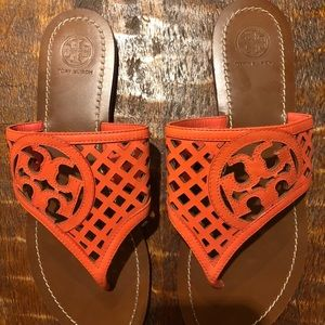 Tory Burch Coral Leather Sandals 9m